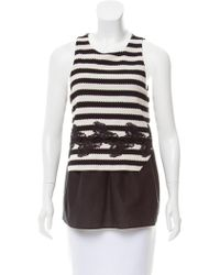 Thakoon - Lace-trimmed Striped Top - Lyst