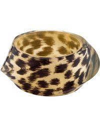 Kate Spade - Leopard Resin Bangle - Lyst