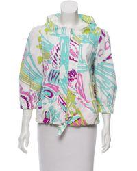 Emilio Pucci - Printed Drawstring Jacket Multicolor - Lyst