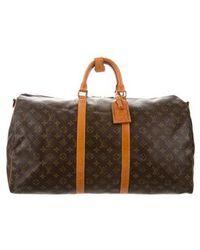 Louis Vuitton - Monogram Keepall Bandouliere 55 Brown - Lyst