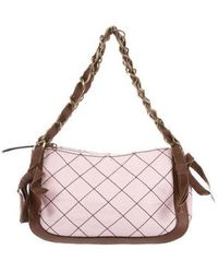Boutique Moschino - Quilted Leather Shoulder Bag Pink - Lyst