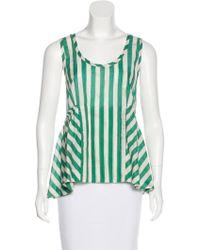 Moncler Grenoble - Striped Sleeveless Top - Lyst