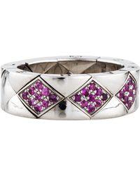 Chanel - 18k Sapphire Matelassé Ring White - Lyst