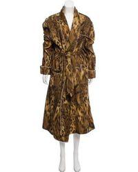 Loro Piana - Printed Long Robe Tan - Lyst