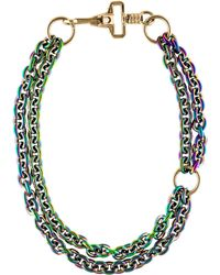 Proenza Schouler - Iridescent Double Strand Necklace Gold - Lyst