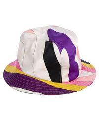 Lyst - Emilio Pucci Wide Brim Hat in Blue 47c09fc8781f