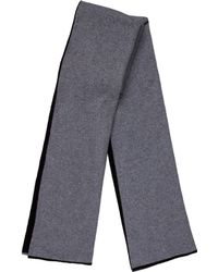 T By Alexander Wang - Wool Bicolor Scarf Black - Lyst