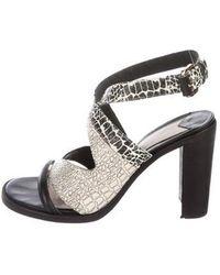 10 Crosby Derek Lam - Embossed Crossover Sandals - Lyst