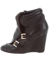 2dbe9c689ba7 Lyst - Louis Vuitton Vienna Logo-accented Ankle Boots W  Tags in Brown