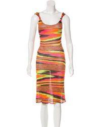50659fa455 Lyst - Missoni Sport Vintage Missoni Sunset Stripe Dress in Red