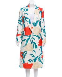 Thakoon - Floral Print Long Coat - Lyst