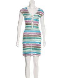 17232903e5 Lyst - Missoni Sport Knit Midi Dress in Blue