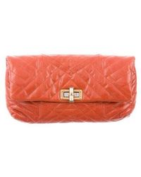 Lanvin - Quilted Happy Pop Clutch Gold - Lyst