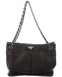 b295e64f0b56 Lyst - Chanel Natural Beauty Tote Navy in Metallic