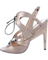 94c3b49c363 Lyst - Proenza Schouler Nubuck Ankle Strap Sandals W  Tags Beige in ...