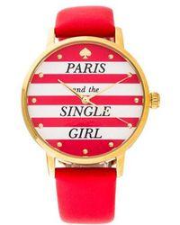 Kate Spade - Metro Paris Watch - Lyst