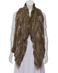 Elizabeth and James - Fur Leather Vest - Lyst