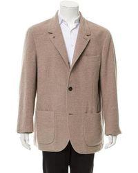 6df19ad4288 Brunello Cucinelli - Virgin Wool Cashmere Blend Three Button Blazer Tan -  Lyst