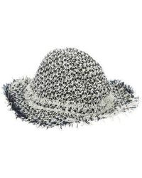 Lanvin - Tweed-accented Hat Navy - Lyst