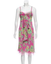 Tuleh - Sleeveless Midi Dress Pink - Lyst