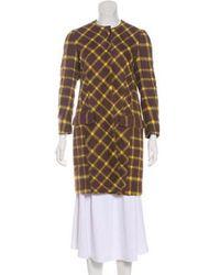 Etro - Alpaca Gingham Coat - Lyst