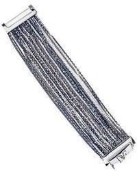 Diane von Furstenberg - Two-tone Multistrand Bracelet Silver - Lyst