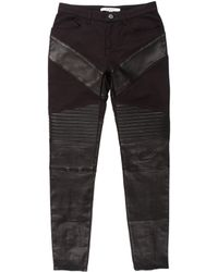 Givenchy - Leather-paneled Mid-rise Jeans - Lyst