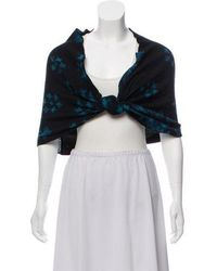 Baja East - Knit Knot-accented Shawl - Lyst