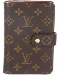 Louis Vuitton - Monogram Porte-papier Zippé Wallet Brown - Lyst