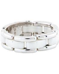 Chanel - 18k Ceramic Ultra Ring White - Lyst