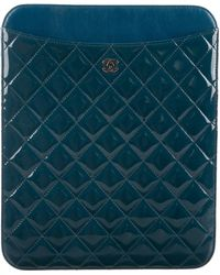 Chanel - Quilted Ipad Case Blue - Lyst