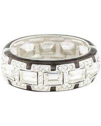 Judith Leiber - Glamour Gal Crystal Bracelet Silver - Lyst