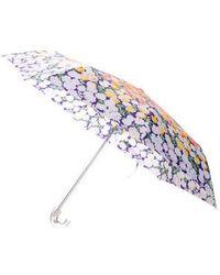 Marc Jacobs - Floral Retractable Umbrella Orange - Lyst