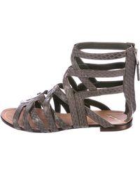 B Brian Atwood - Snakeskin Gladiator Sandals - Lyst