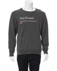 Undercover - 2016 Not Found Sweatshirt Grey - Lyst