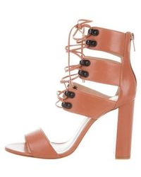 Ruthie Davis - French Lace-up Sandals Rose - Lyst