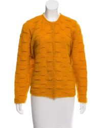 Dior - Mohair-blend Cardigan Orange - Lyst