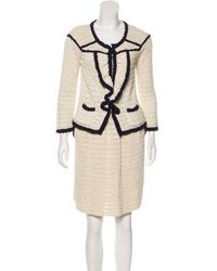 RED Valentino - Knit Skirt Suit Navy - Lyst