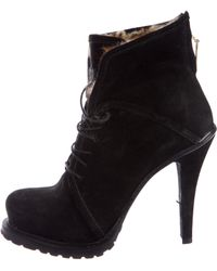 Elizabeth and James - Suede Fur-trimmed Ankle Boots - Lyst
