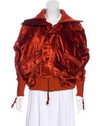 Nicholas K - Lightweight Velvet Jacket W/ Tags Orange - Lyst