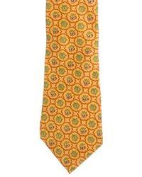 Ferragamo - Printed Silk Tie - Lyst