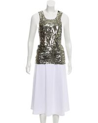 Gryphon - Sleeveless Sequined Top - Lyst