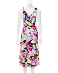 Emilio Pucci - Sleeveless Printed Dress - Lyst