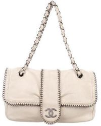 7bb1a7a371c7 Lyst - Burberry Madison Medium Textured Leather Buckle Crossbody in ...