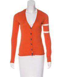 Lucien Pellat Finet - V-neck Knit Cardigan Orange - Lyst