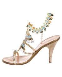 1827af824f4537 Lyst - Nina Ella Platform Evening Sandals in Metallic