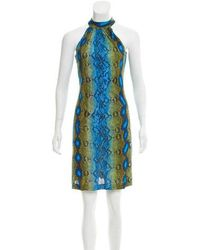 Michael Kors - Sleeveless Snake Print Dress Olive - Lyst