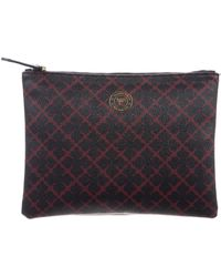 By Malene Birger - Printed Zip Pouch Navy - Lyst