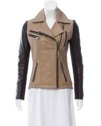 MICHAEL Michael Kors - Michael Kors Leather Moto Jacket - Lyst