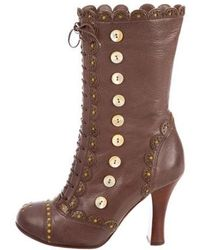 John Galliano - Brogue Ankle Boots - Lyst